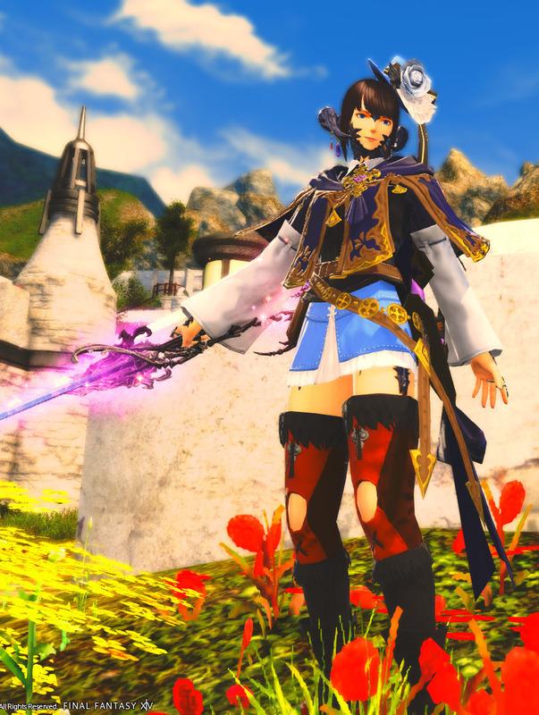 青の魔法剣士