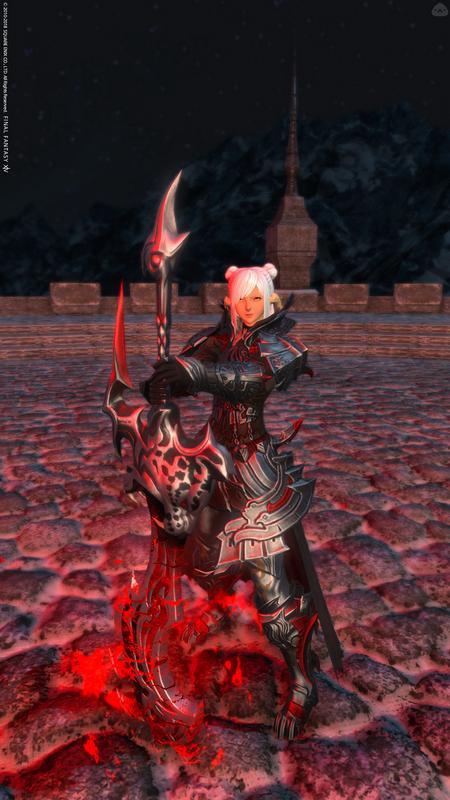 白髪の暗黒騎士