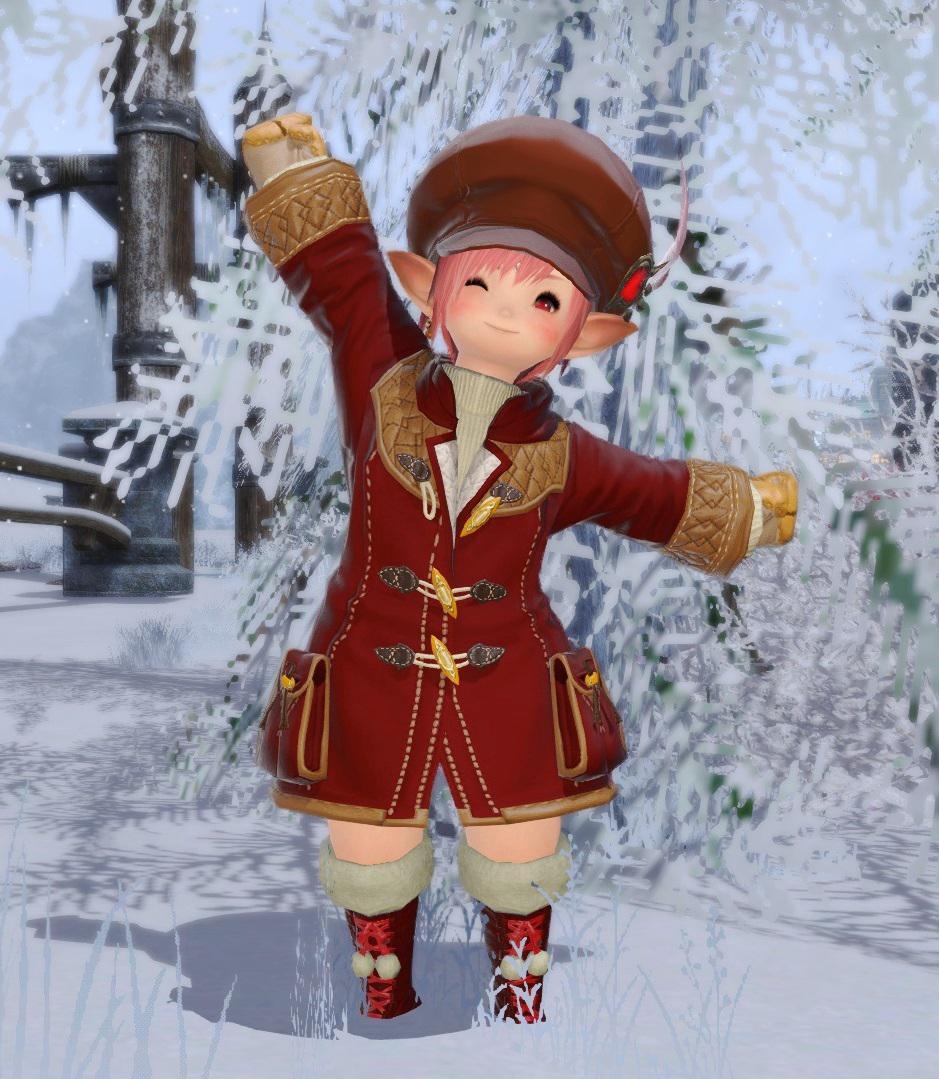 ぽんぽんブーツで冬支度♪