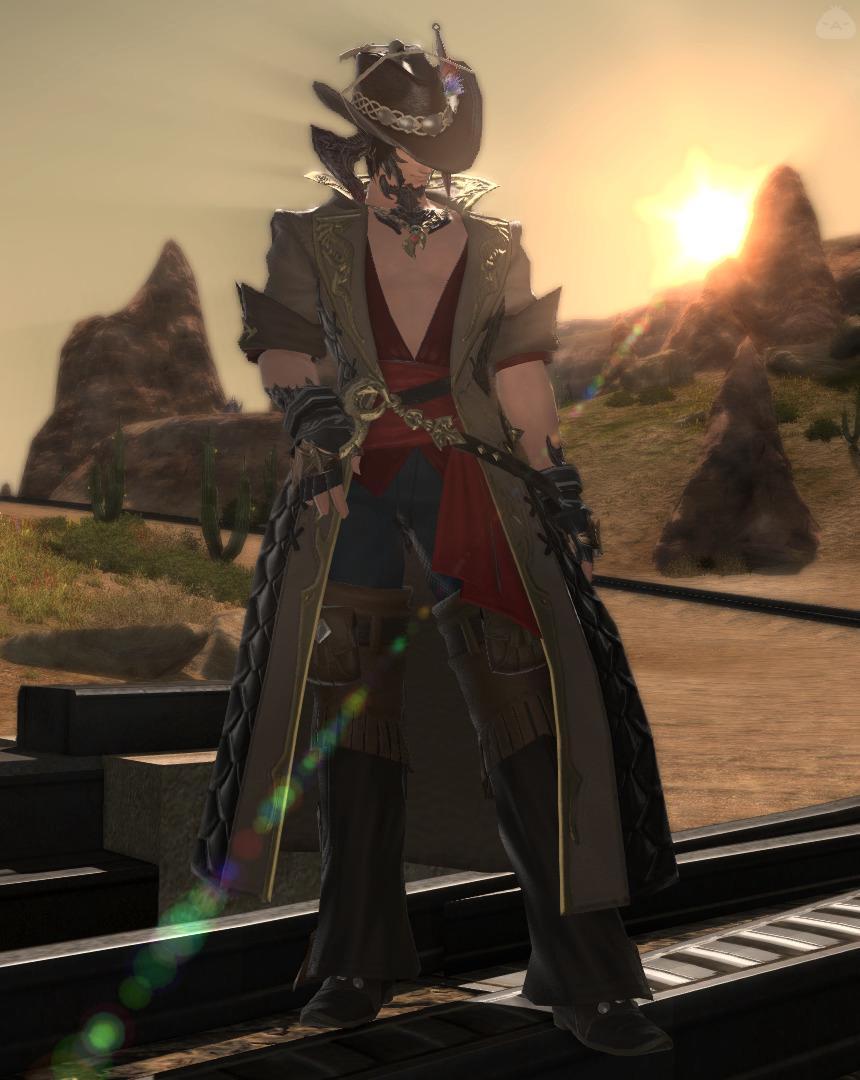 夕日の漁師