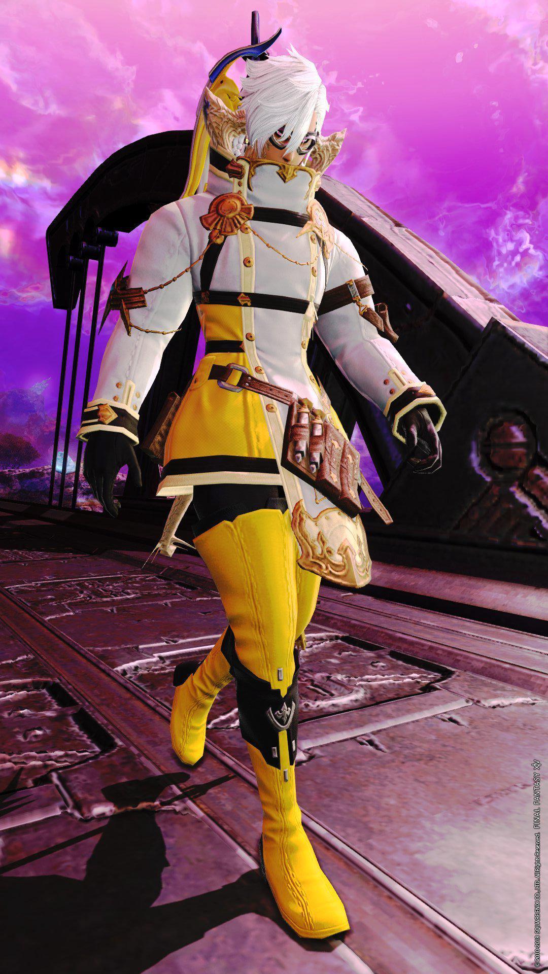 黄色で格好良く