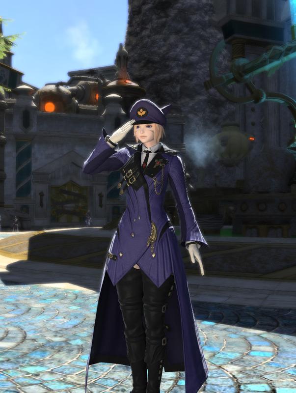 警察官風青い赤魔道士