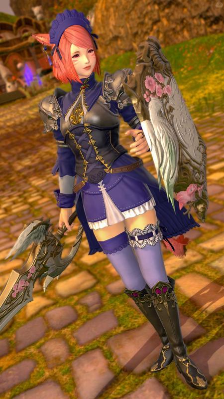 青い姫騎士風ミラプリ