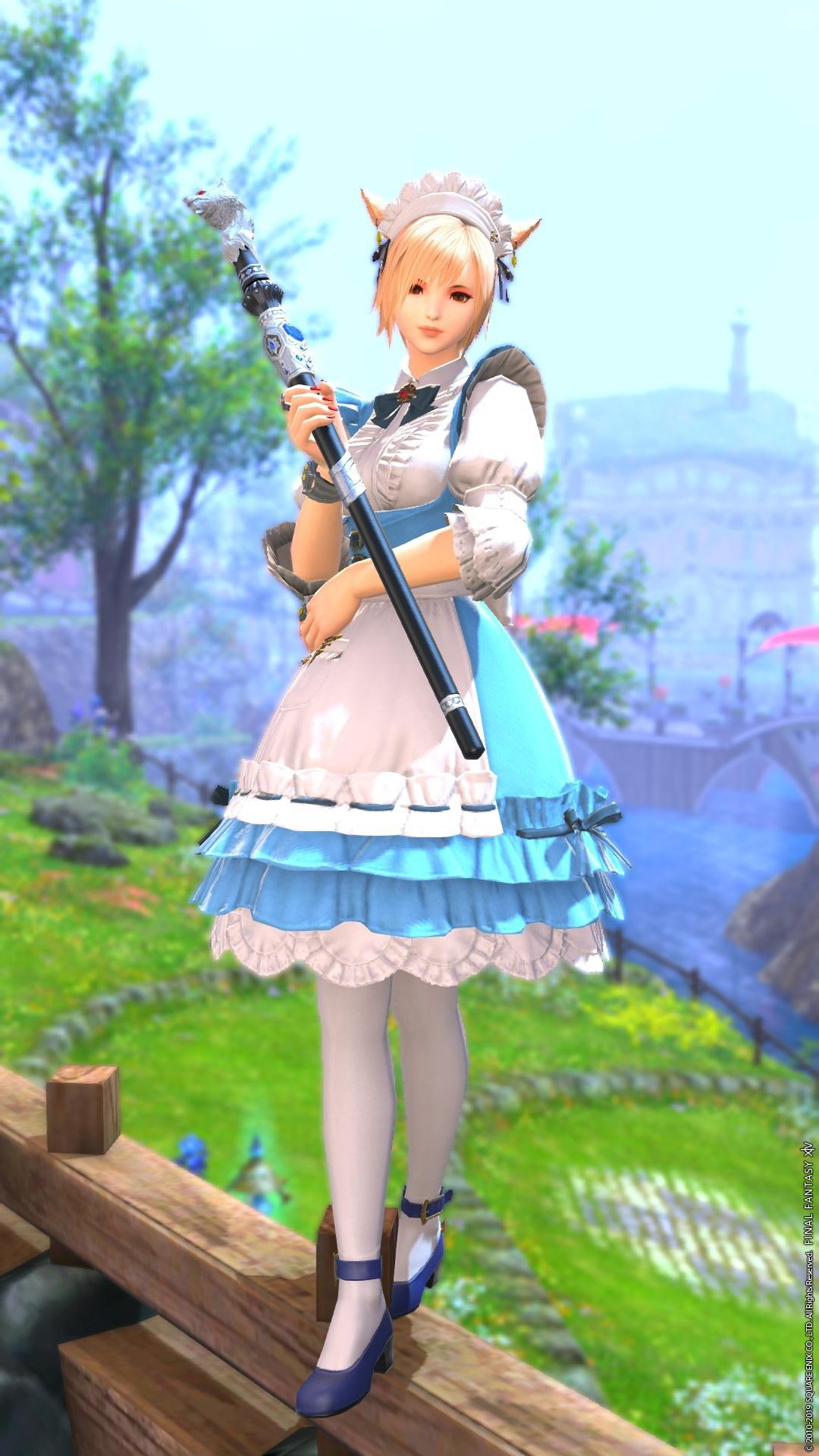 Blue mage? Blue maid?