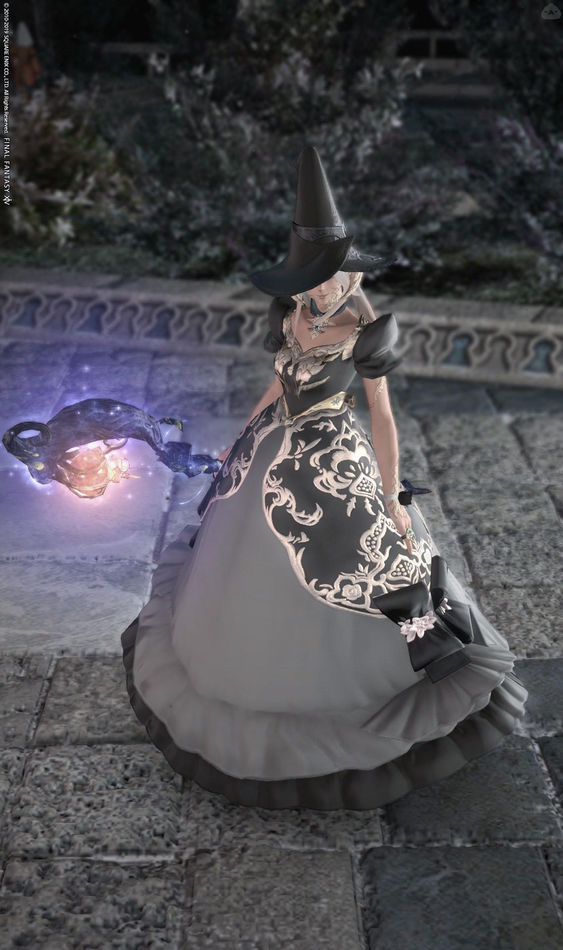 プリンセスドレスで黒魔!