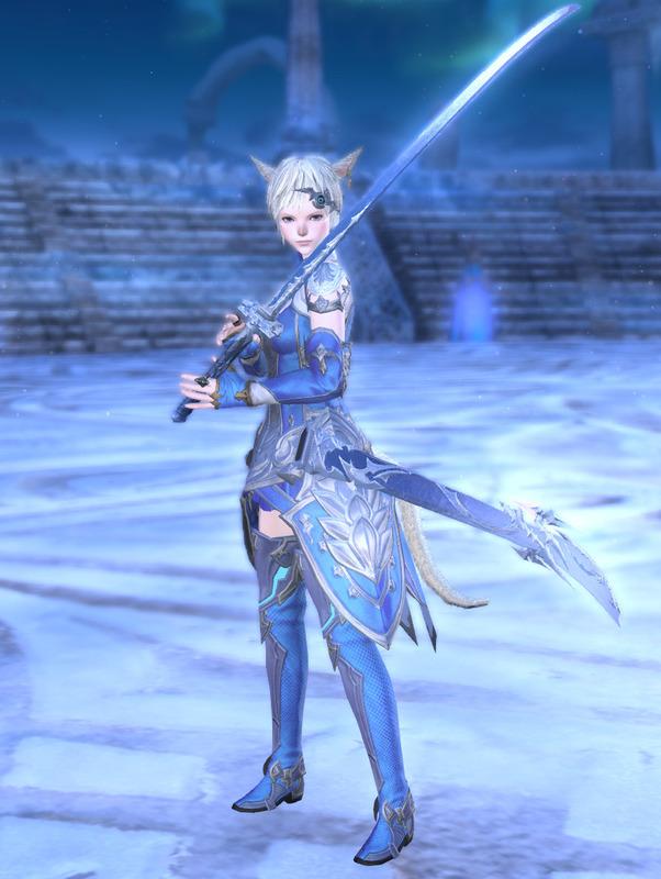 氷巫女の剣士