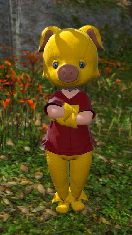 黄色い豚さん