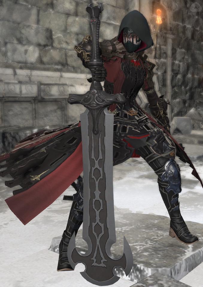 面隠し暗黒騎士
