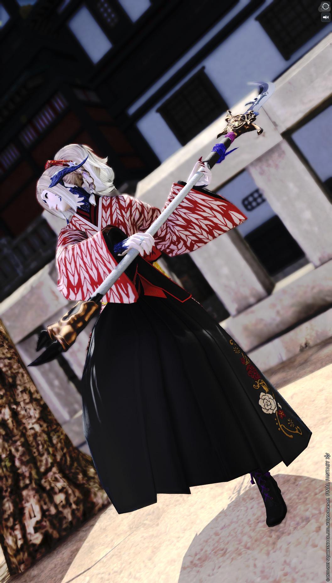 薙刀と女学生