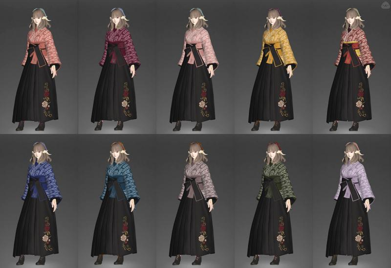 袴の染色を考えてみた
