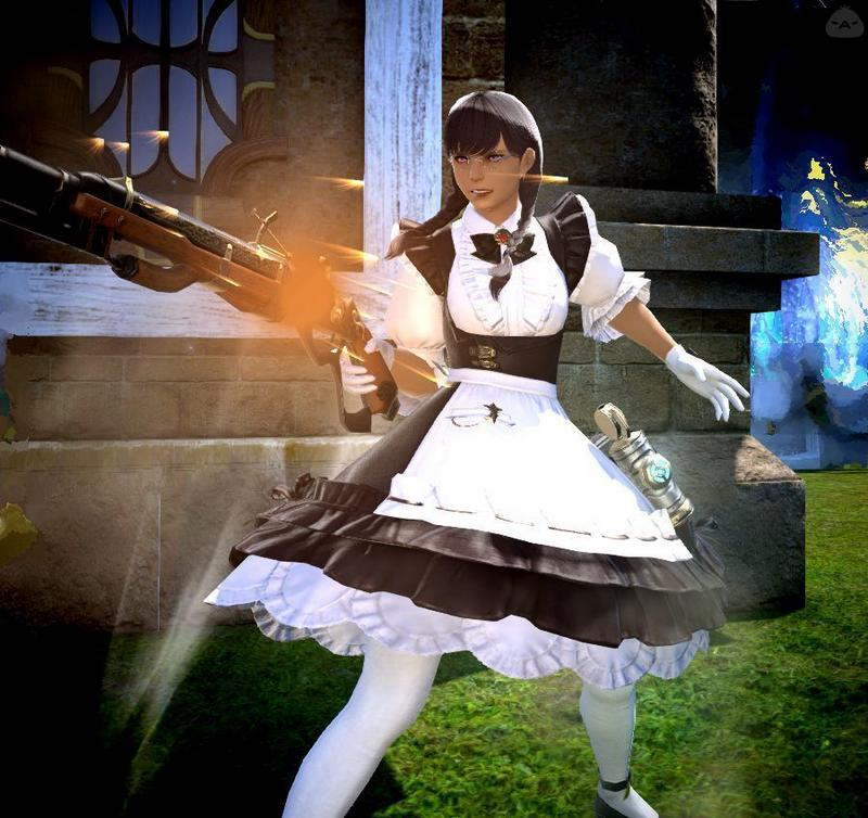 武装メイドさん。