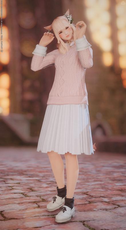 ゆるふわピンクセーター