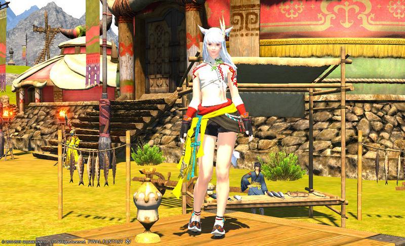 アジア風民族衣装コーデ