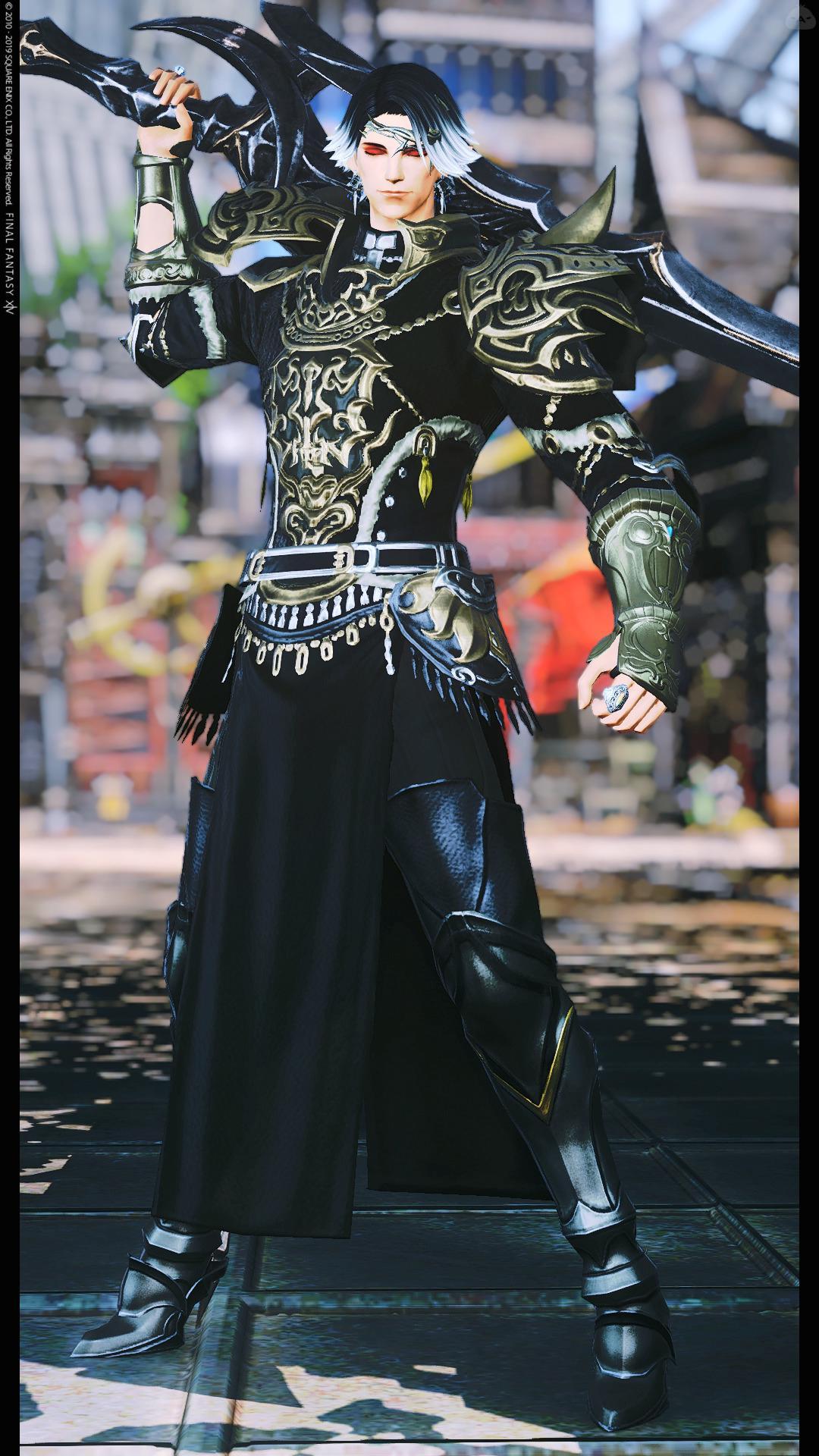脚線美にこだわった暗黒騎士