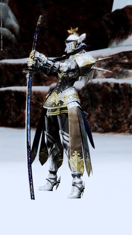 白髪の銀甲冑