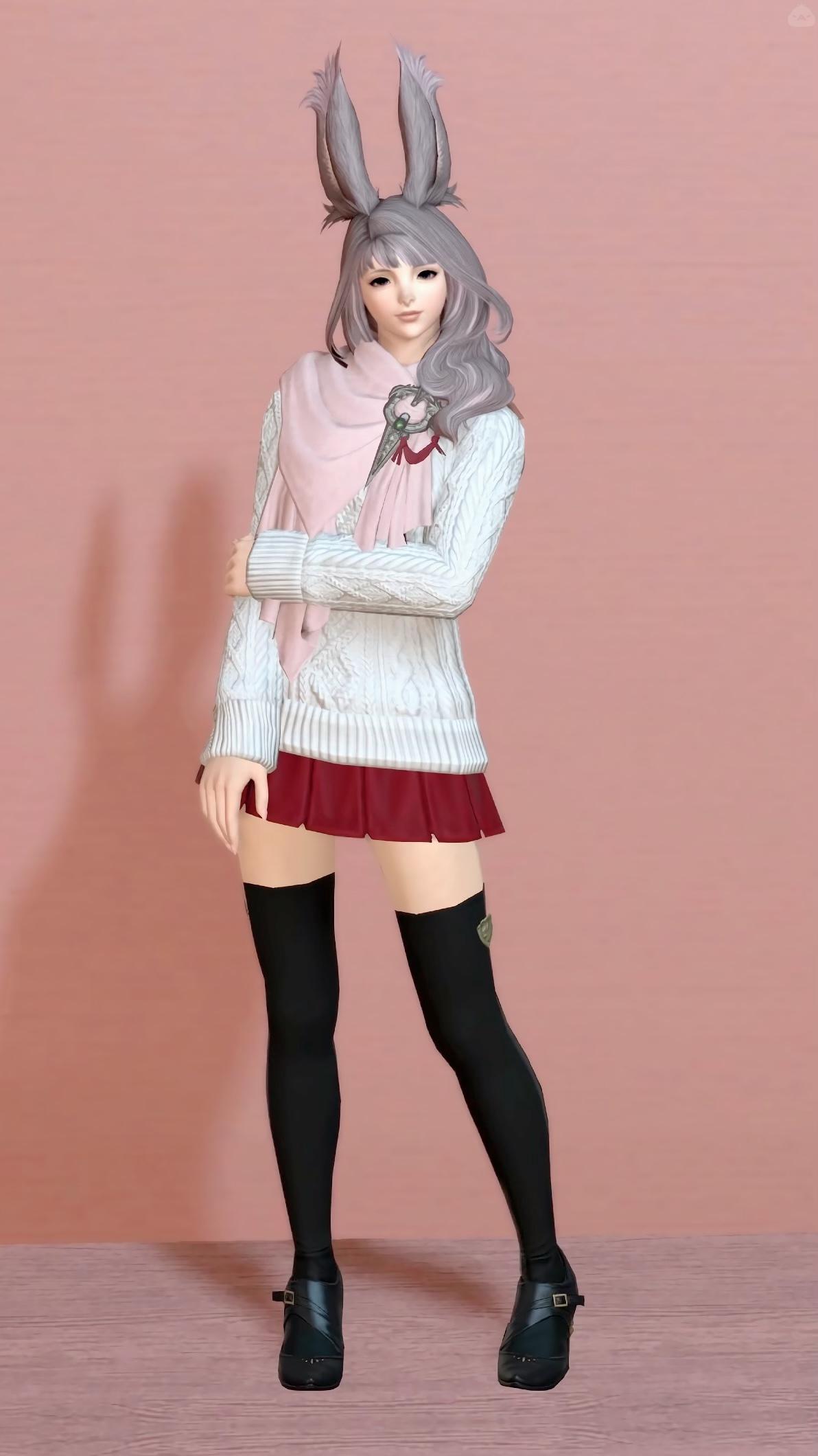セーターとミニスカート