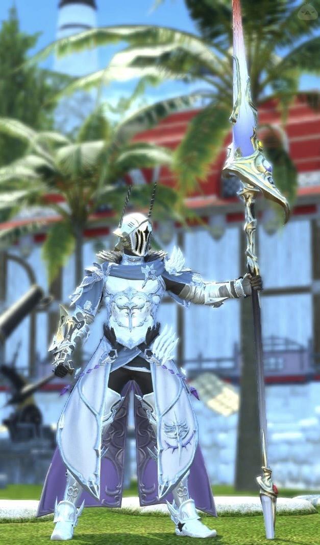 純白の聖竜騎士