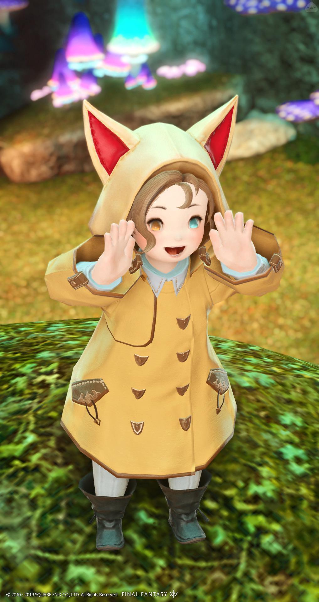 猫耳レインコート