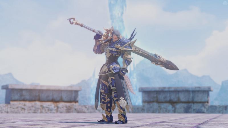 蒼い鎧の暗黒騎士