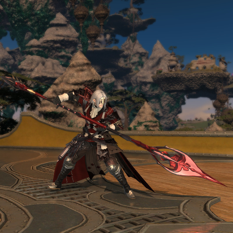 冒険者風軽装紅の竜騎士
