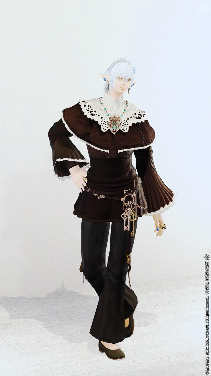 とある黒魔道士のオフの服装