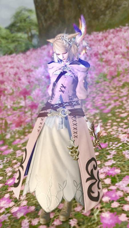 お花畑の白