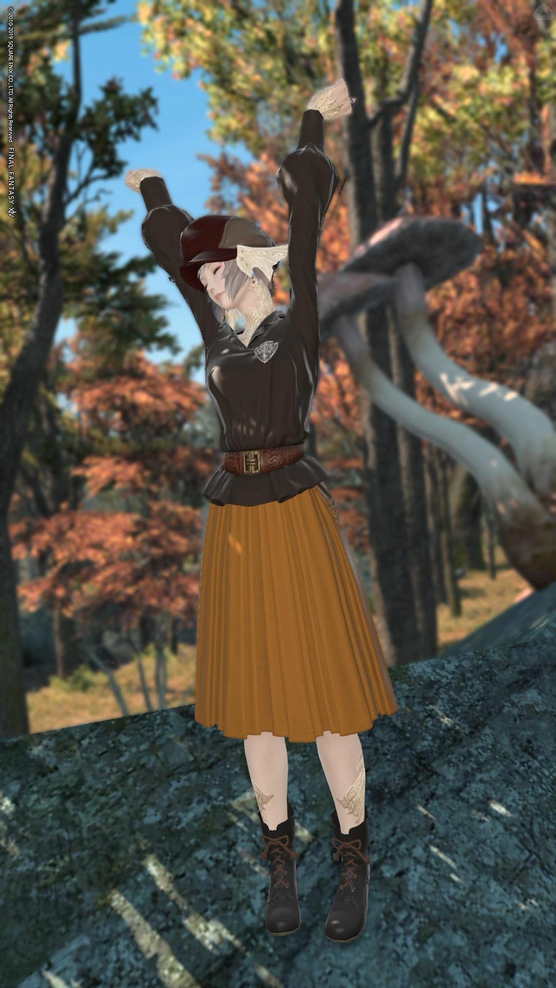 秋の散歩スタイル