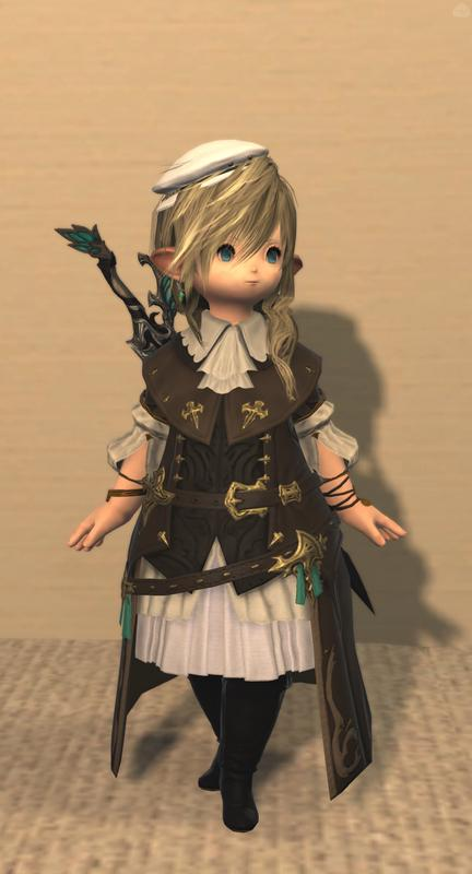 妖精の剣と朽葉色のコート