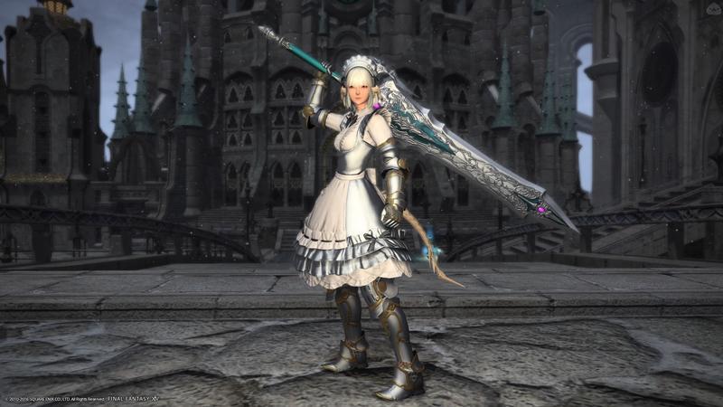 白銀のメイド騎士