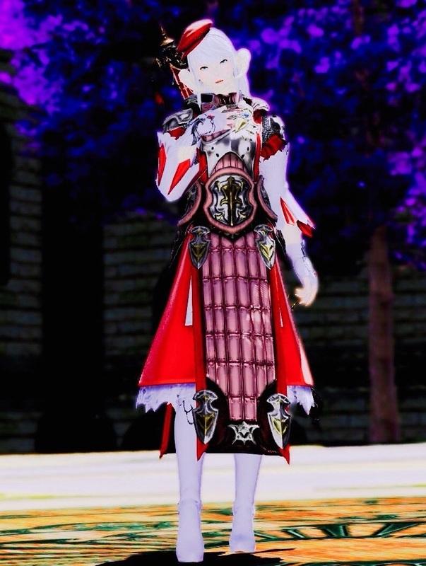 赤と鎧の白魔道士