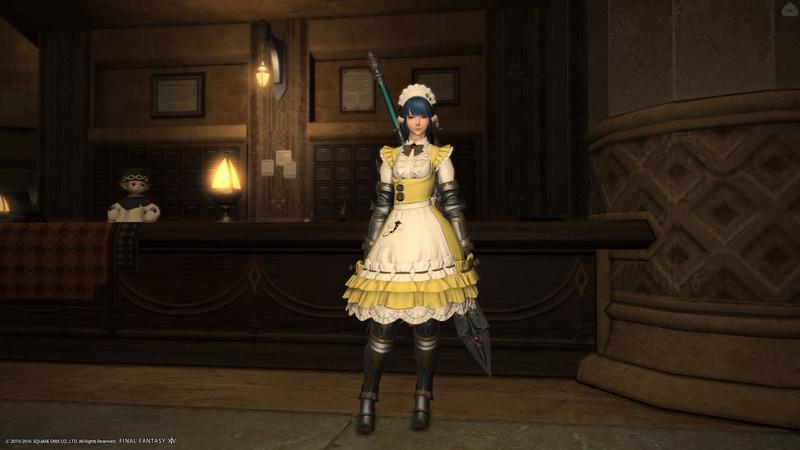 カレーが名物の喫茶店に勤めていそうなメイド騎士
