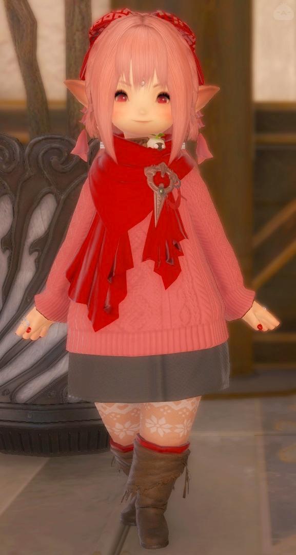 冬のぶりっ子服