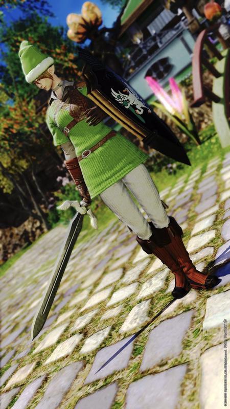 緑の勇者のコスプレ