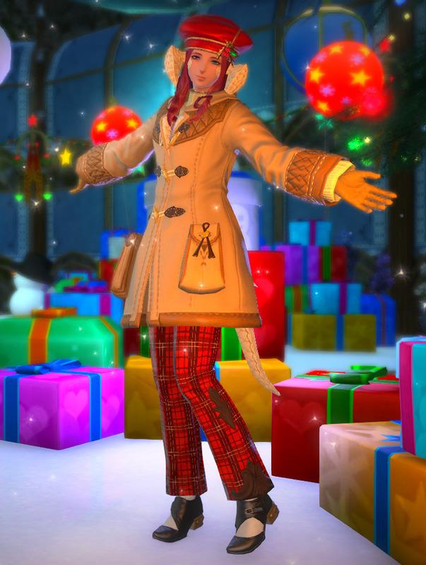 コートであったかクリスマス