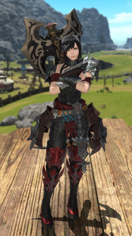 草原の女斧士