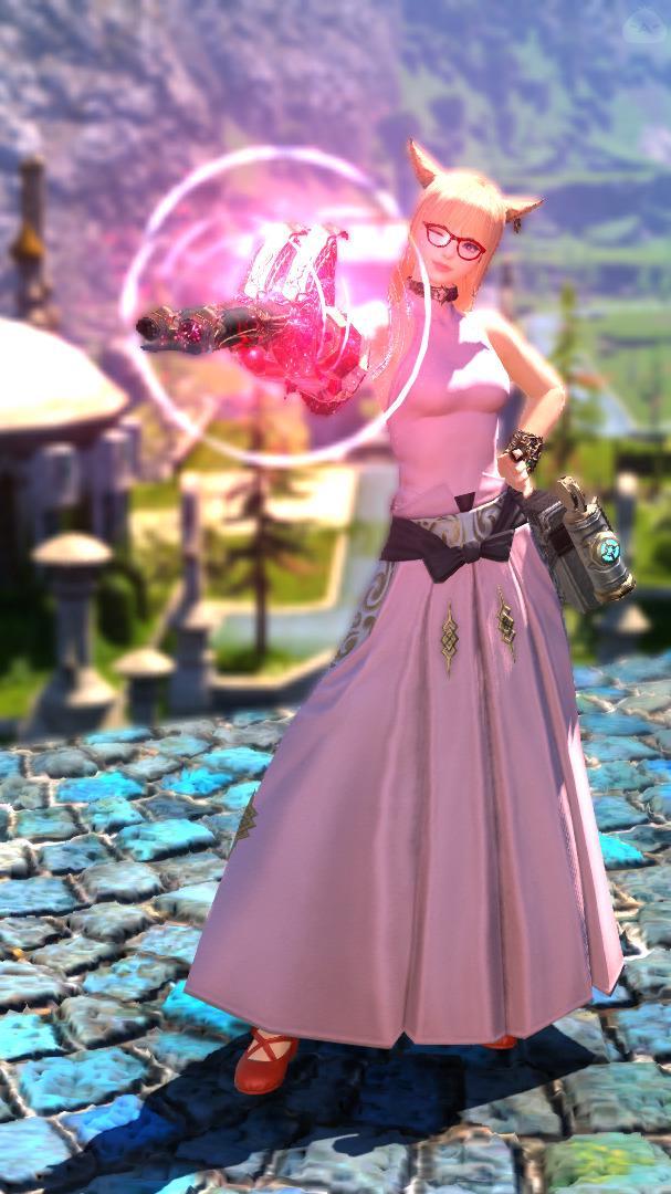 元気なピンク機工士