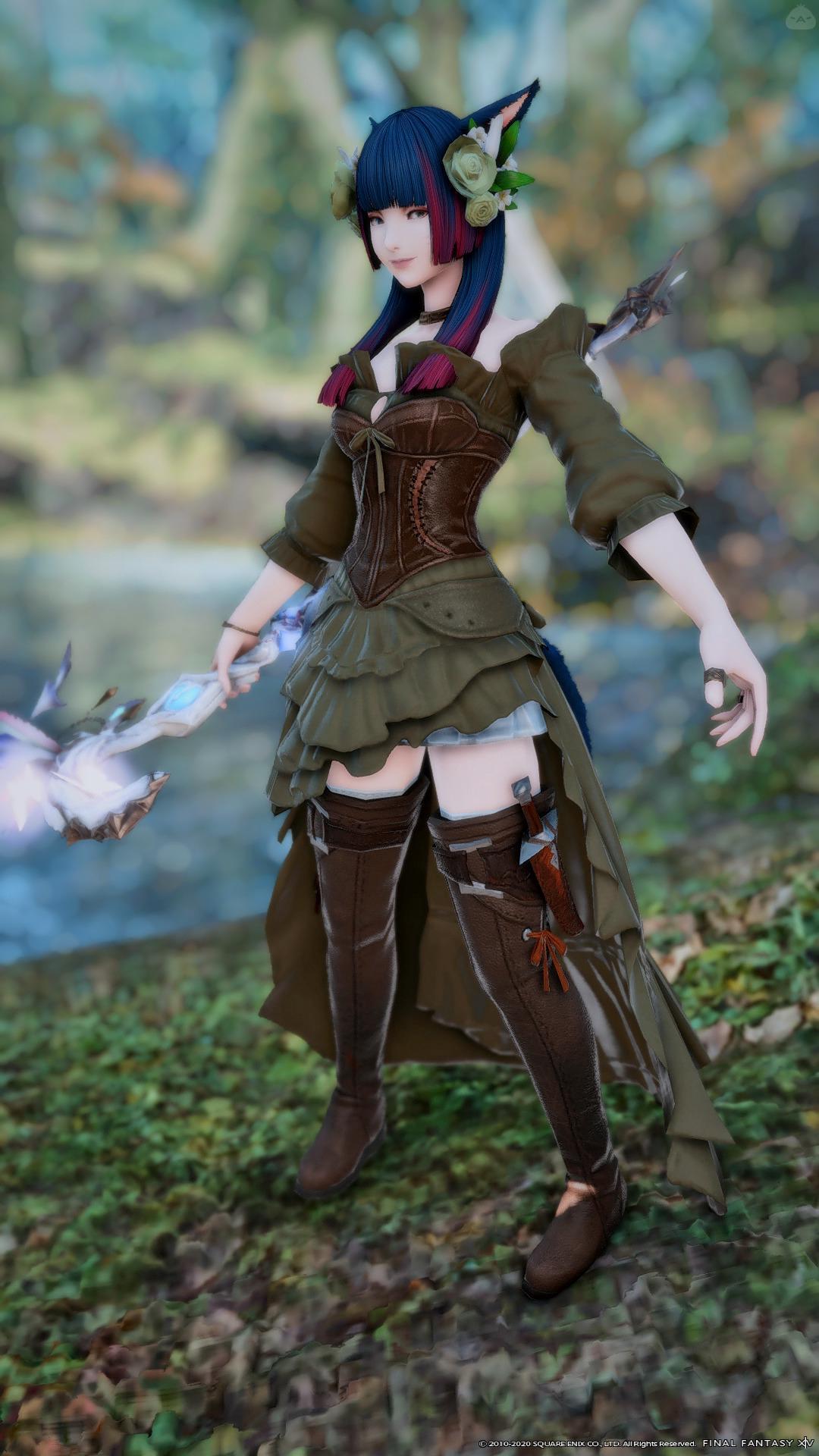 森と生きる少女