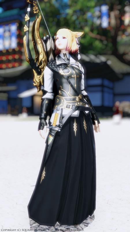 弓道部風衣装