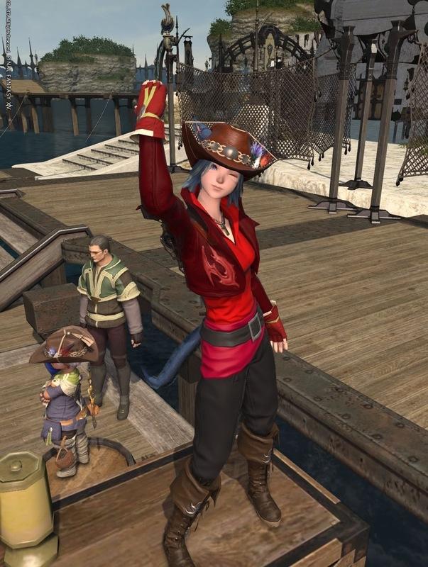 赤い釣り人