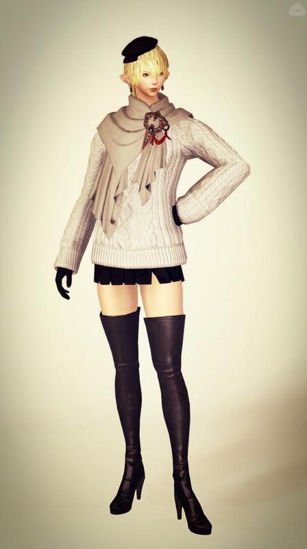 モノトーンな冬の装い