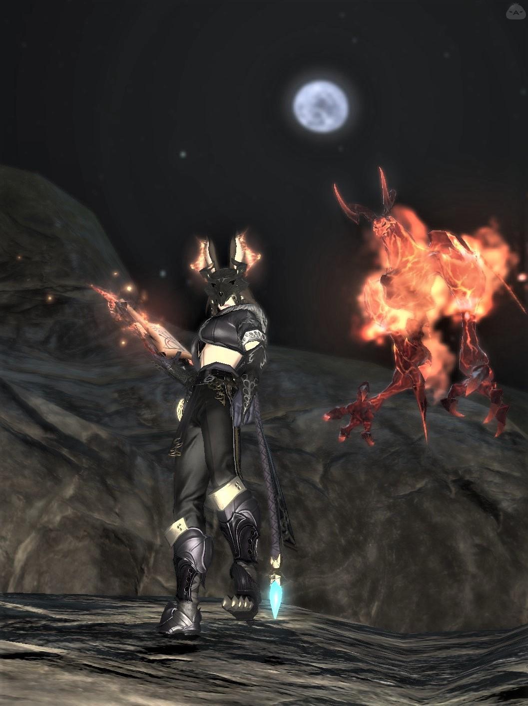 燃える召喚士