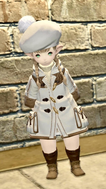 冬の白コーデ