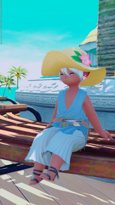 海辺のベンチでヒトヤスミ