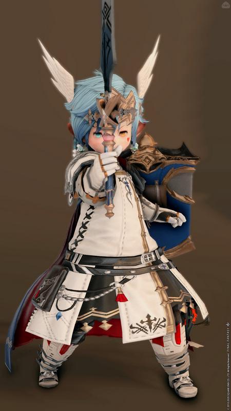 青いマントの白い騎士