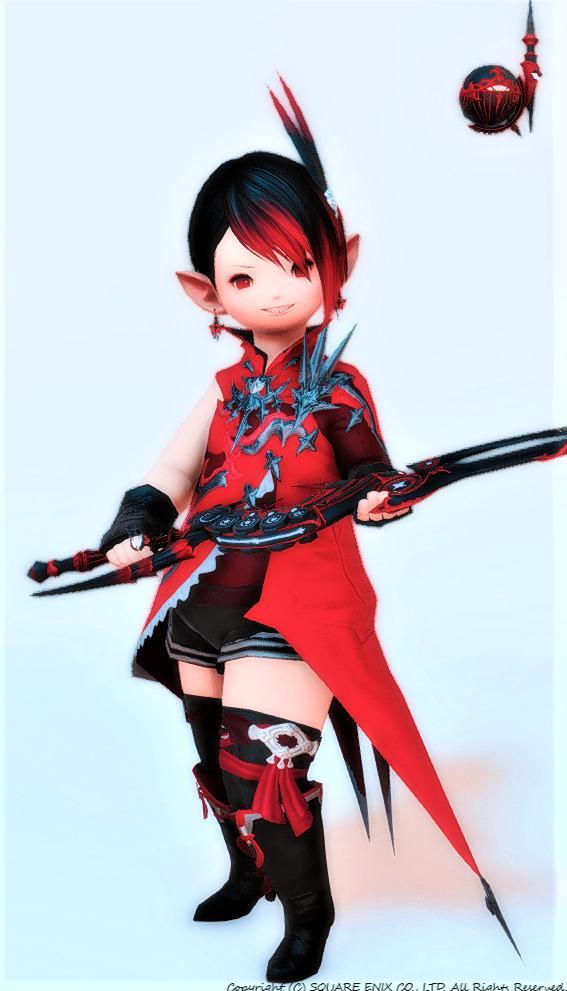 赤い魔剣士