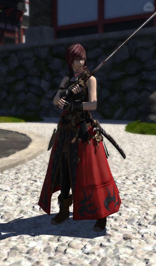 紅き魂の侍コーデ