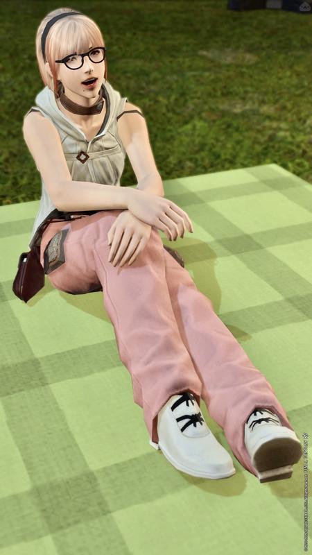 白ピンク服