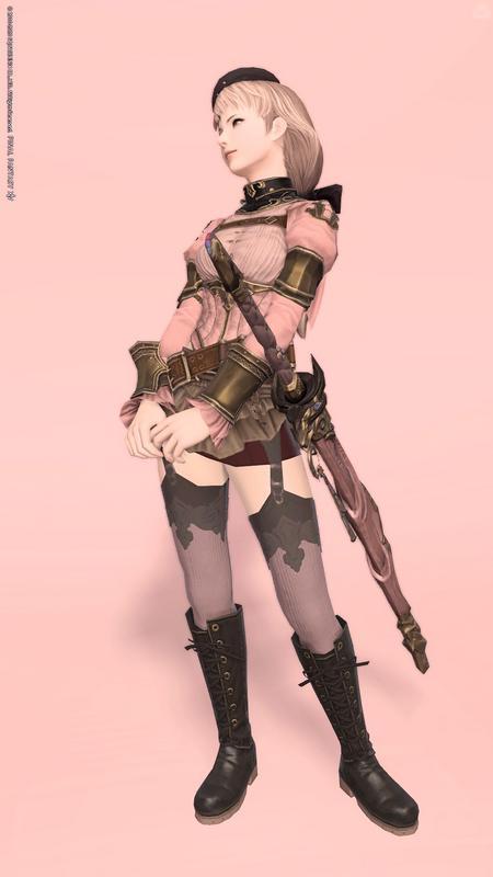 パステルピンクな剣士
