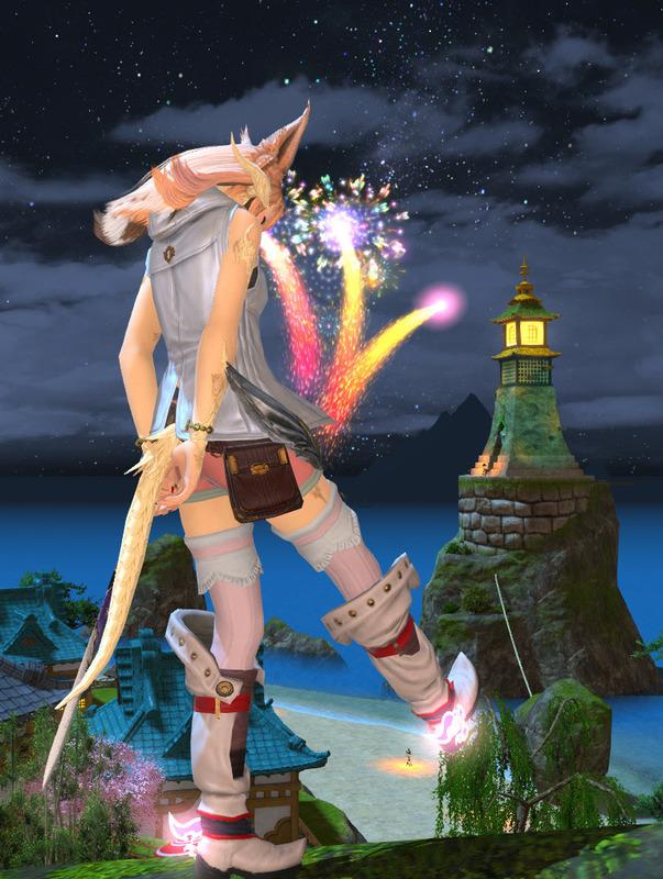 ナタ姫と花火
