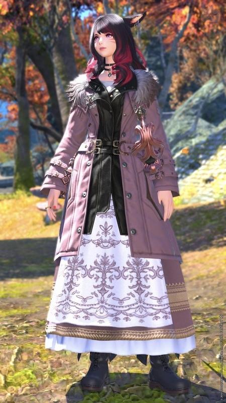 秋のロングスカート